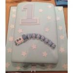 One Tier 1st Birthday Cake