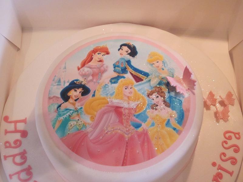 One Tier Disney Princess Birthday Cake Neo Cakes