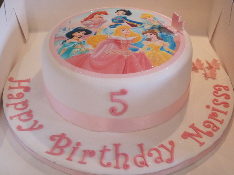 One Tier Disney Princess Birthday Cake Neo Cakes