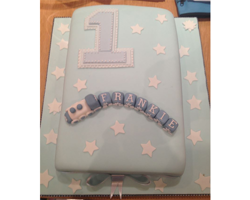 Swell One Tier 1St Birthday Cake Neo Cakes Personalised Birthday Cards Epsylily Jamesorg